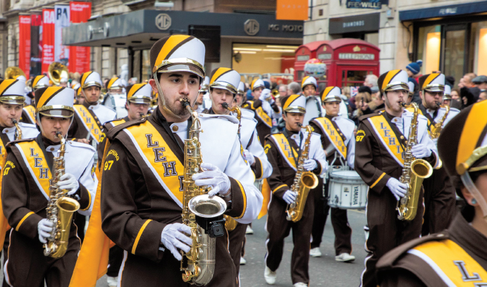 Marching 97 in London New Years Parade