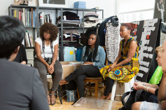 Lehigh Mandela Fellows visit New York fashion designer MM LaFleur