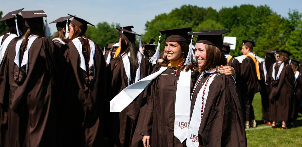 Lehigh University 2016 Graduates Smile for a Picture and Prepare for the Beginning of Commencement
