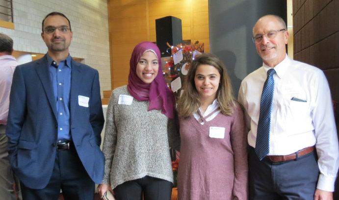 Lehigh University graduate students and mentors at mentor appreciation event