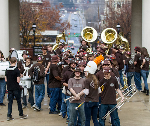 The Marching 97 on campus