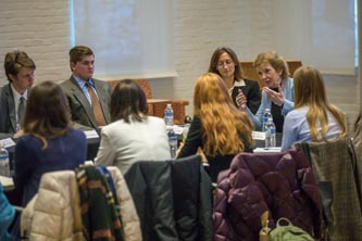 Mary Robinson meets with Lehigh students