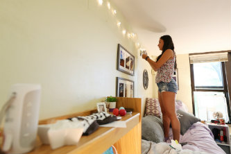 Students had some time to decorate their dorm rooms before orientation kick-off Thursday afternoon.