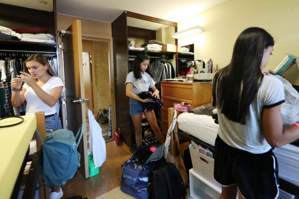 Once cars were unpacked, students were tasked with arranging their belongings in their dorm rooms.