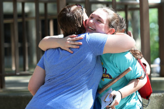 After the unpacking and lunch was finished, first-year students eventually had to say farewell to their families.