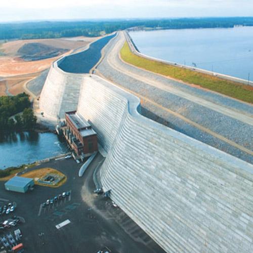 The Saluda Dam in South Carolina