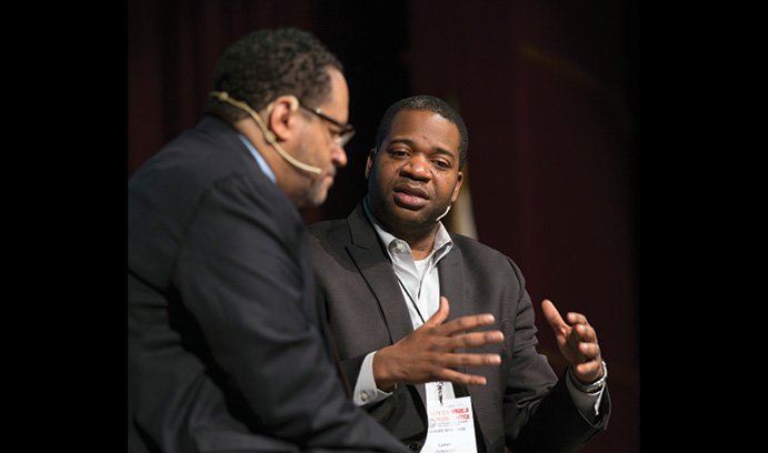 James Braxton Peterson speaks to Michael Eric Dyson
