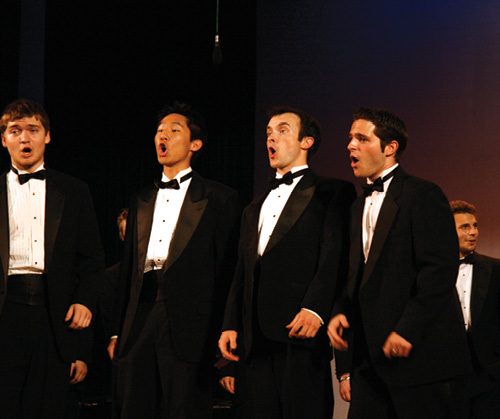 Members of Lehigh's Glee Club