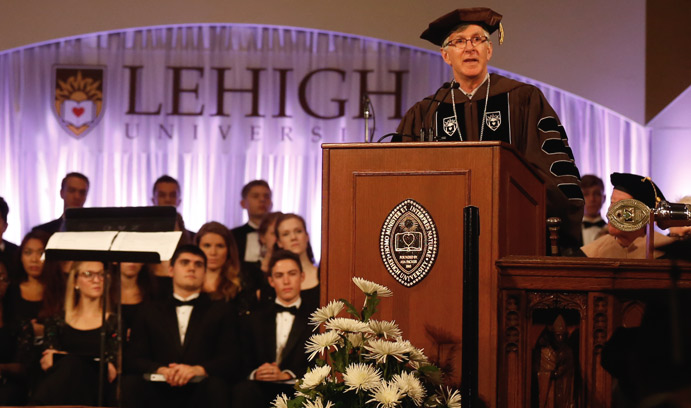 John D. Simon spoke eloquently on the power of higher education to shape the future.