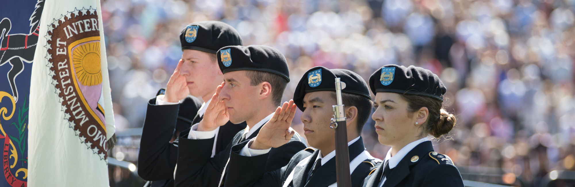 ROTC Lehigh Students Saluting