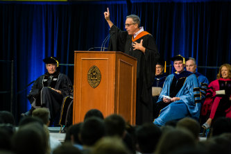Professor Augustine Ripa gives the keynote address at Lehigh's academic convocation