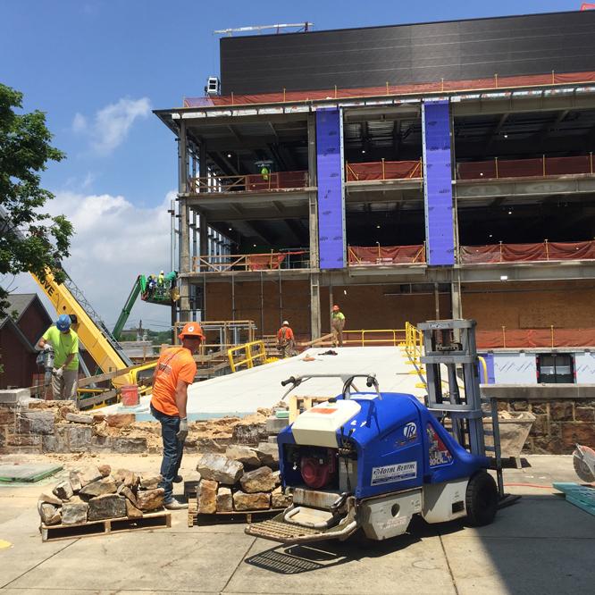 Construction on Lehigh's Health, Science & Technology building