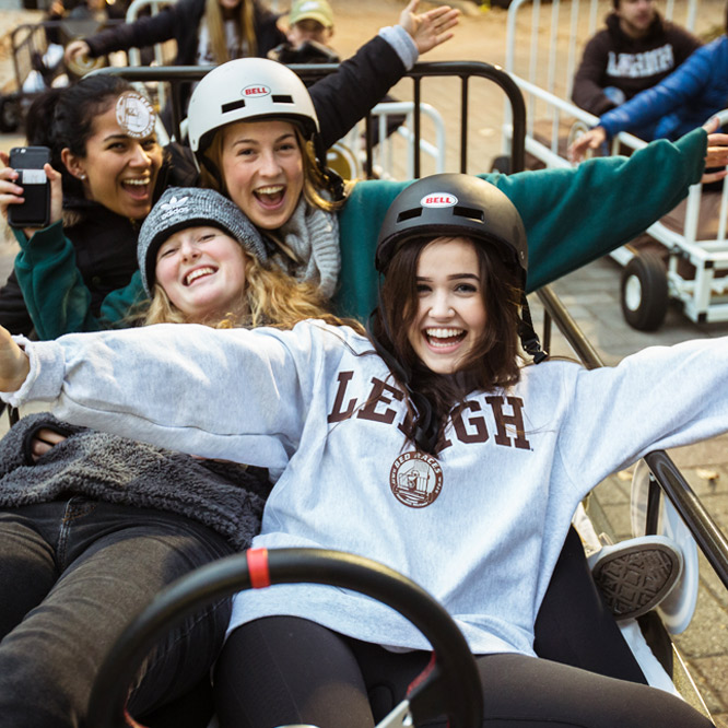 Bed Races, one of Lehigh's longest running Spirit Week traditions