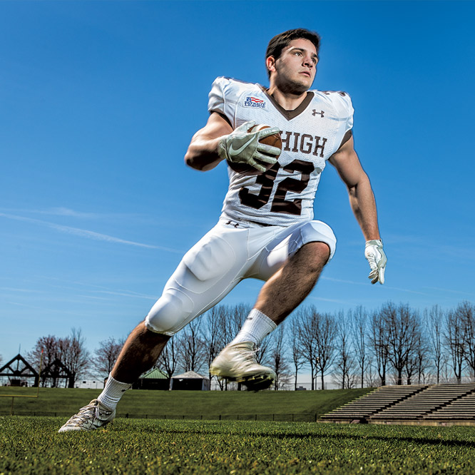 Lehigh football player Dom Bragalone