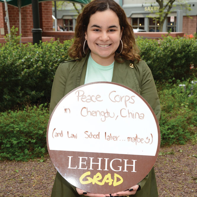 Serving in the Peace Corp, Tanairy Ortiz '19 will head to China next month.
