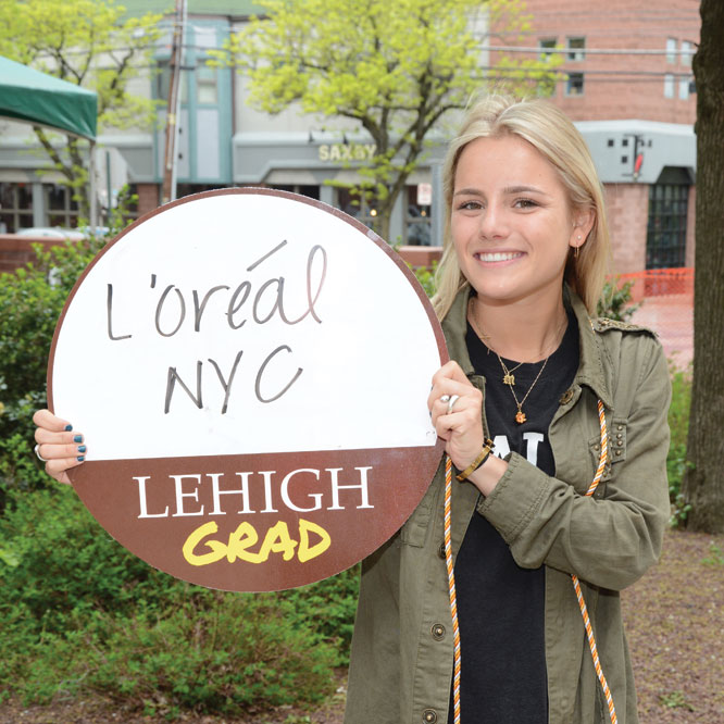 Graduate Madi Welker '19 will head to New York City to join L'oreal.