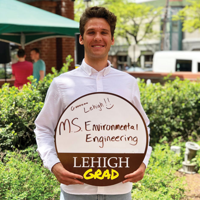 Bartlomiej Bancewicz '19  is headed back to Lehigh for his M.S. in Environmental Engineering.