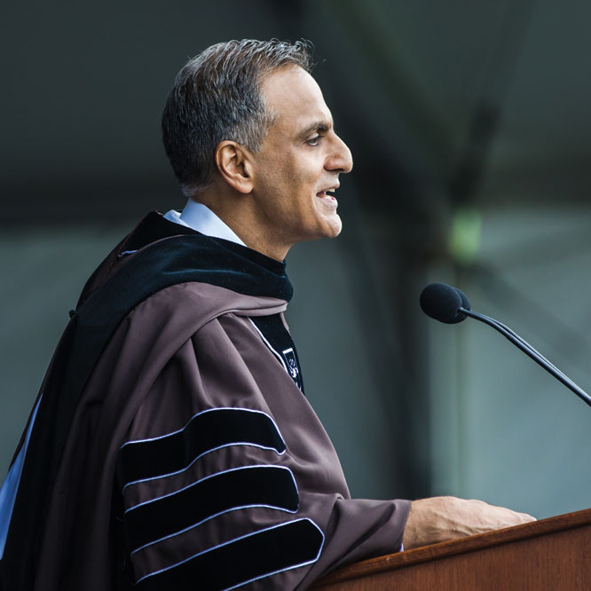 Former U.S. Ambassador to India Richard Verma '90 delivers this year's commencement address.