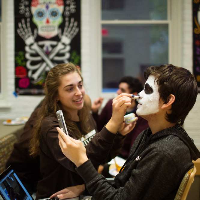 The Latin American and Latino Studies Program partnered with the Spanish Club to celebrate Día de los Muertos.