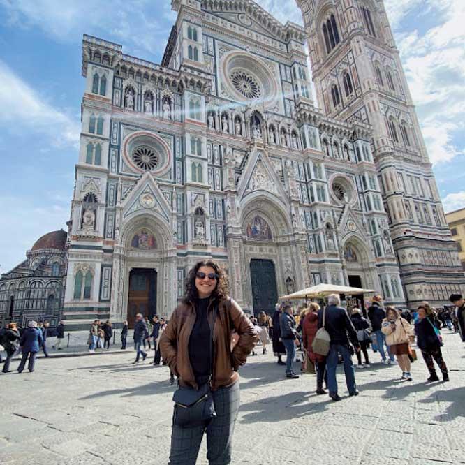 Natalie Maroun in Italy