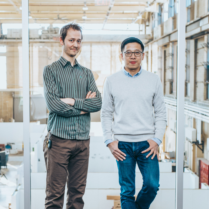 Professors Ting Wang and Eric Baumer