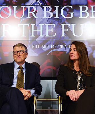Bill Gates and his wife, Melinda