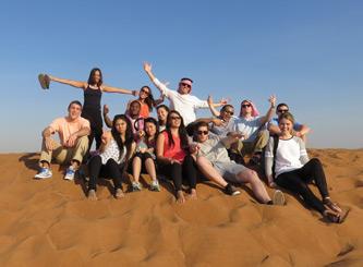 Lehigh students in Dubai