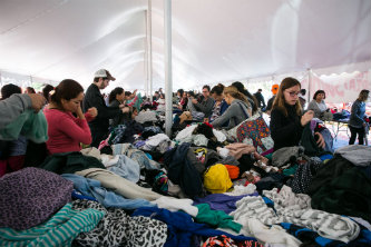 Shoppers browse items at Lehigh University's Great South Side Sale