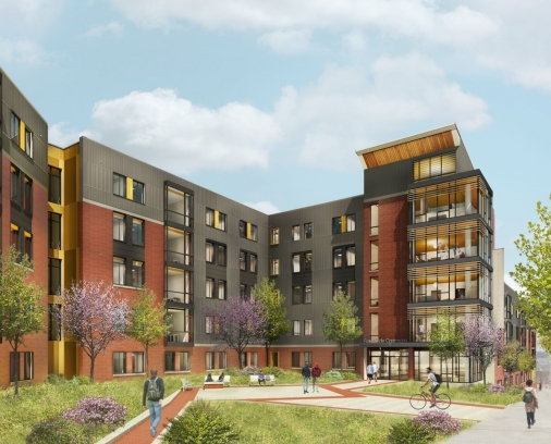 SouthSide Commons Brodhead Entry Rendering
