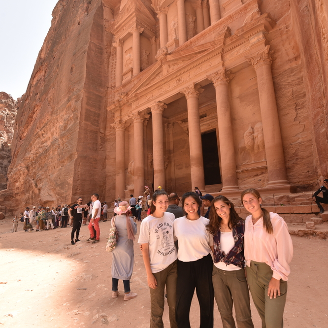 Students studying abroad in Jordan