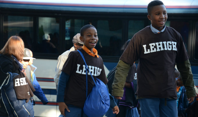 Success Academy students touring Lehigh
