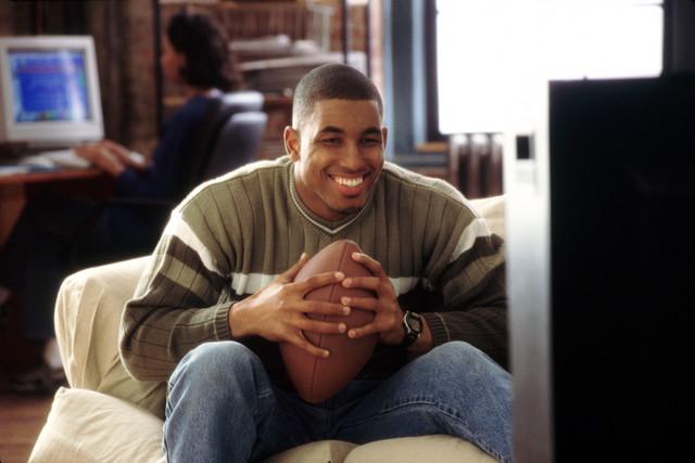 Man watching football game