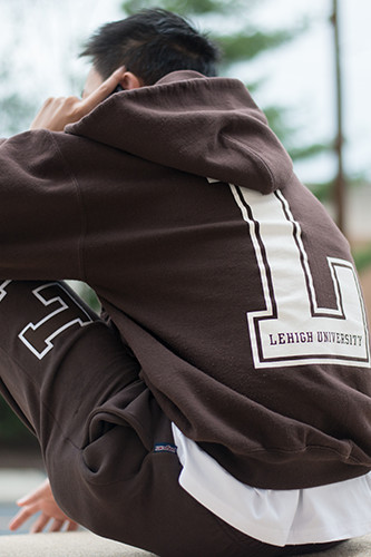 Student wearing a Lehigh sweatshirt