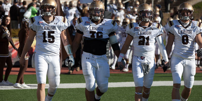 Line of Lehigh football players