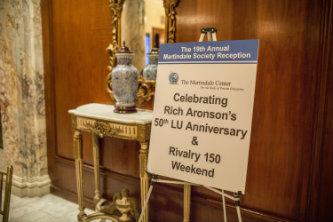 Sign Celebrating Rich Aronsonu0027s 50th LU Anniversary