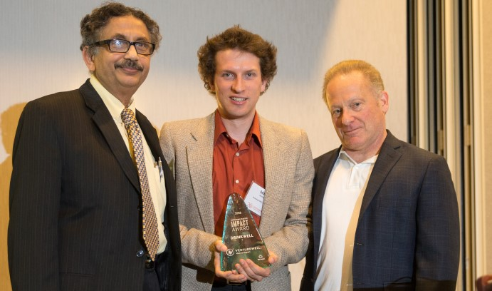 Mike German, Arup SenGupta and Eric Lemelson, vice president and treasurer of the Lemelson Foundation.