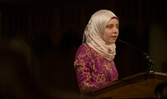 Helen Ard talked about her life as a Muslim at Lehigh University's baccalaureate ceremony.