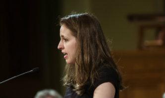 Rachel Weckselblatt spoke from the Christian perspective at Lehigh University's baccalaureate ceremony.