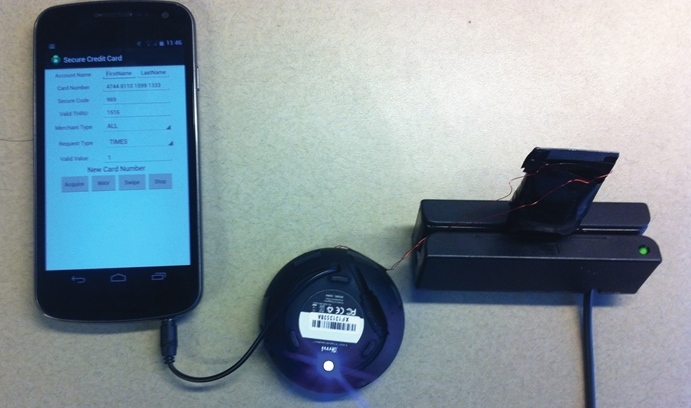 SafePay magnetic card chip setup