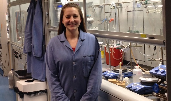 Kimberly Choquette in her lab