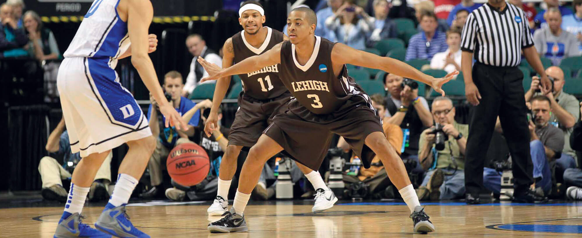 C.J. McCollum at a Lehigh basketball game