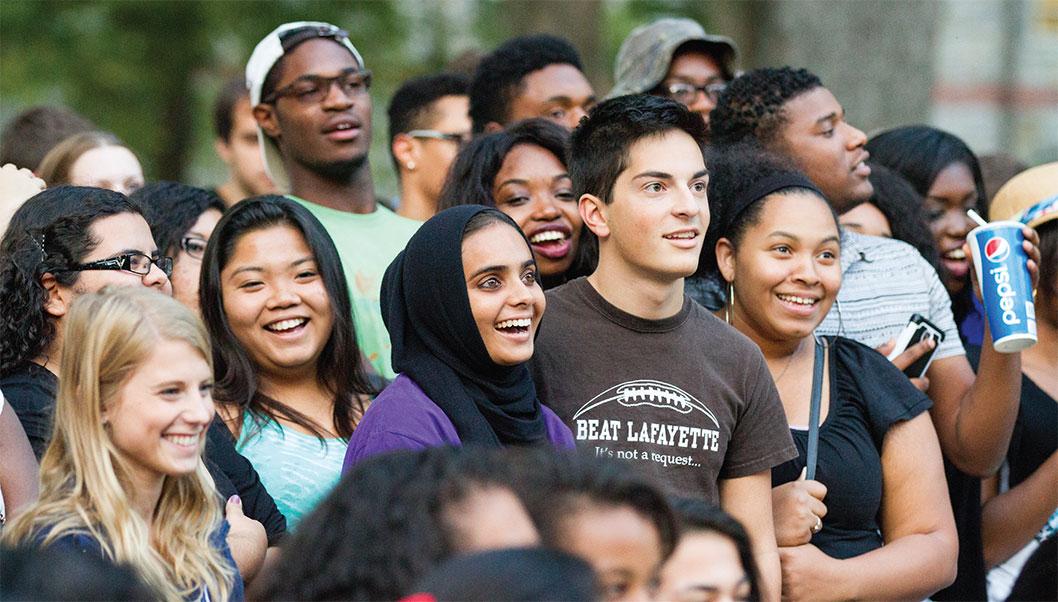 students at rally