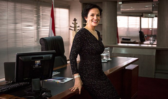 Lea Gimenez is first female vice president of economy in Paraguay.