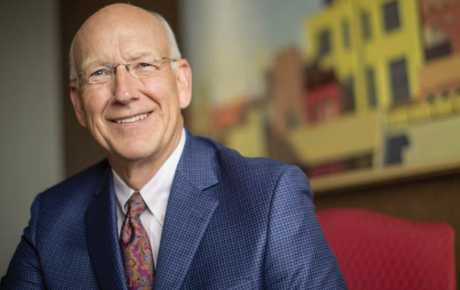 Attorney Ollie Foucek '72 is one of the arts center's biggest champions. (Photo by Douglas Benedict)