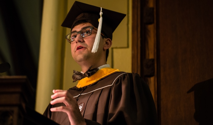"""Gorgi Pavlov '14 '19G said Lehigh's learning philosophy promotes an """"interdisciplinary understanding of the world…that takes all perspectives into account."""""""