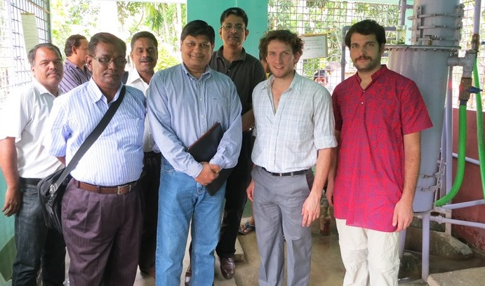 Mike German with partners responsible for safe water project in India