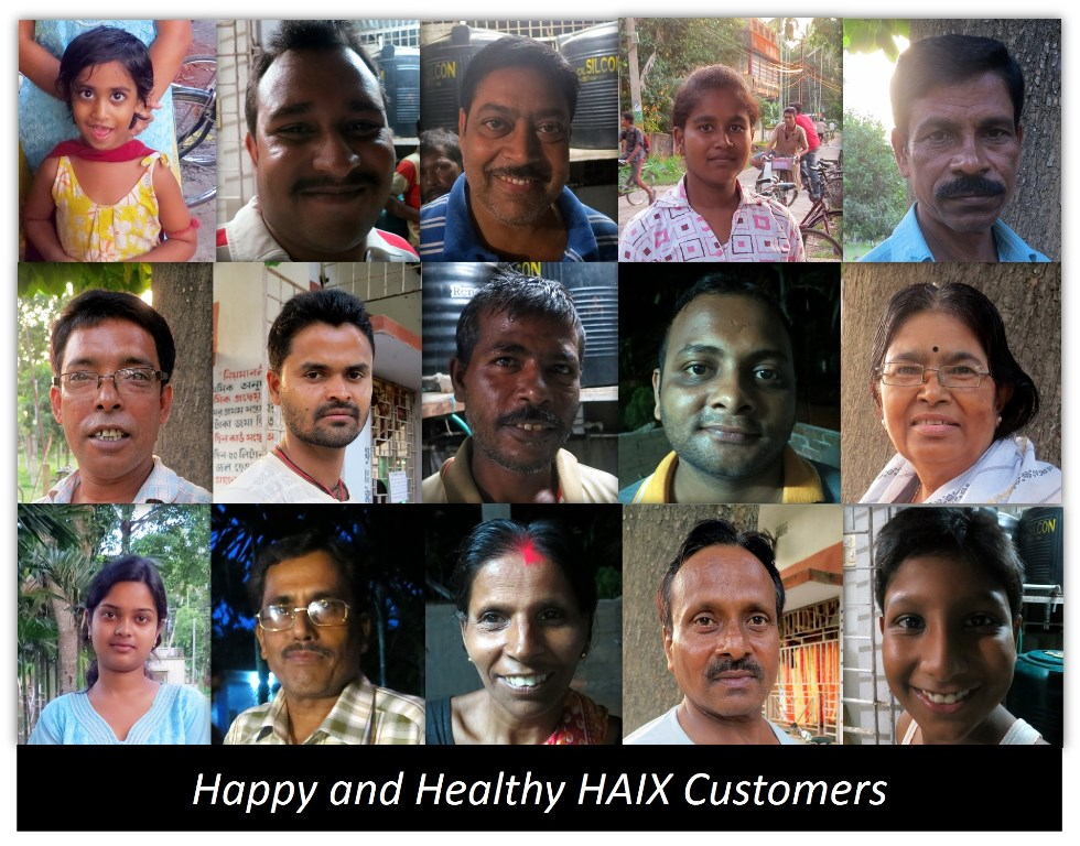 Faces of people helped by HAIX