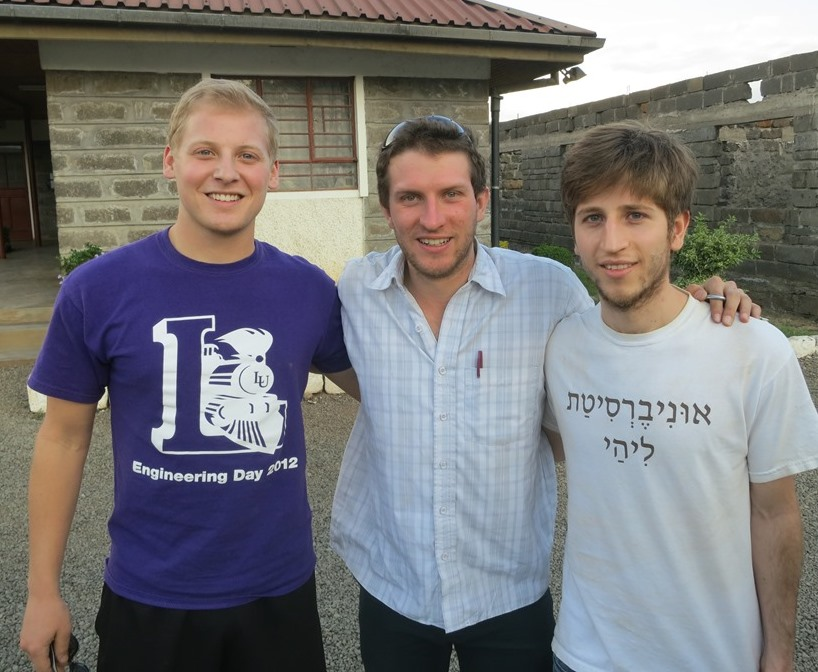 German with Kevin Hoogenboom and Lukas Tejada in Kenya