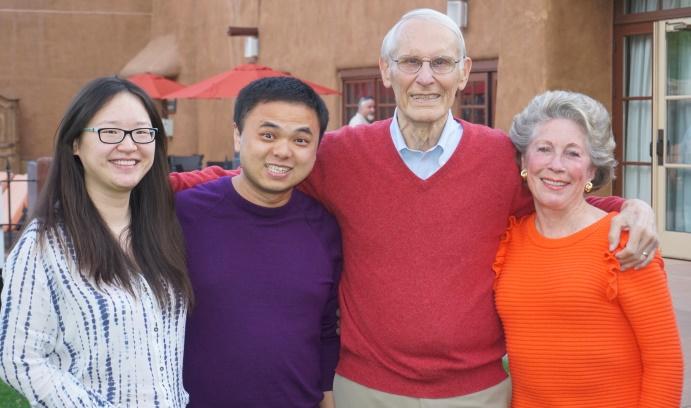 Jim Gunton, Peggy Gunton, Lehigh graduates Wei Li and Hui Jia.
