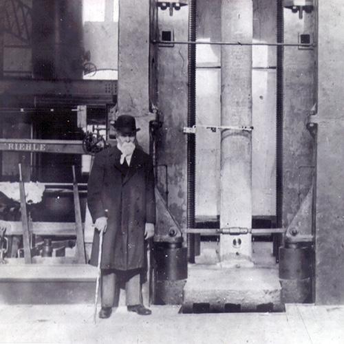 John Fritz inside Fritz Laboratory